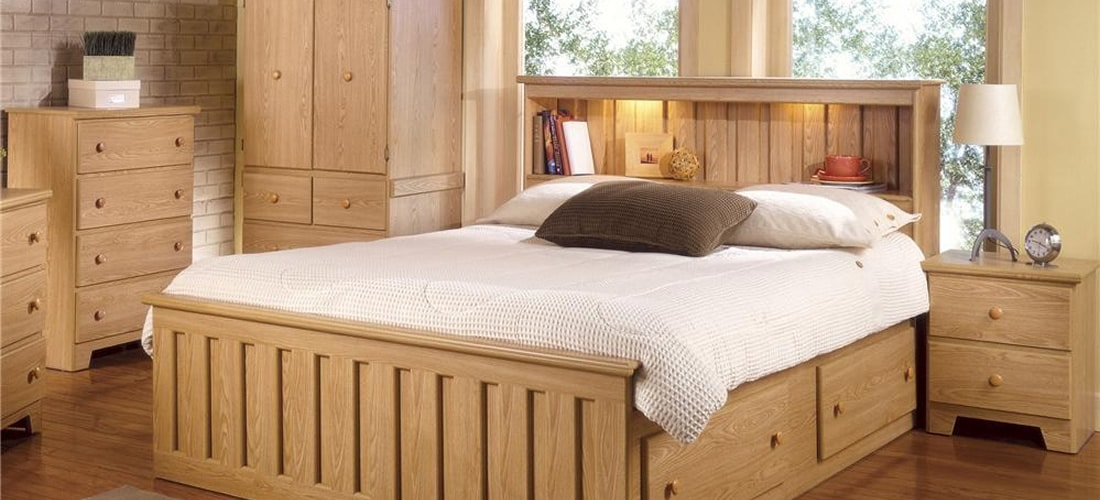 Classic Light Oak Bedroom Furniture Lang Furniture Shaker Collection