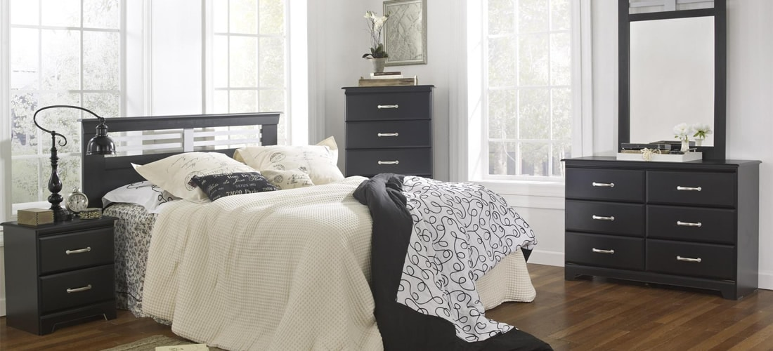 Industrial Inspired Black Bedroom Furniture Lang Furniture Trenton