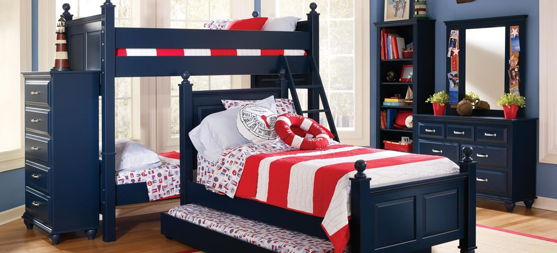 Kids Indigo Blue Bedroom Furniture | Lang Furniture | MADISON Collection
