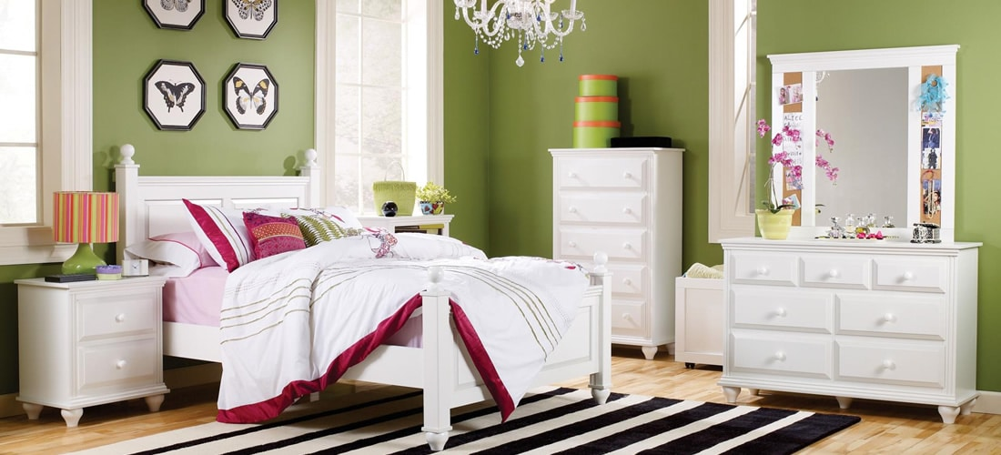 White Bedroom Furniture | Lang Furniture | MADISON Collection