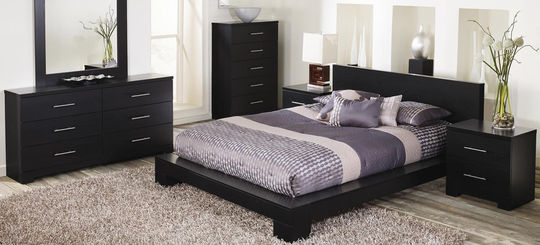 Modern Black Bedroom Furniture Lang Furniture Brooklyn Collection