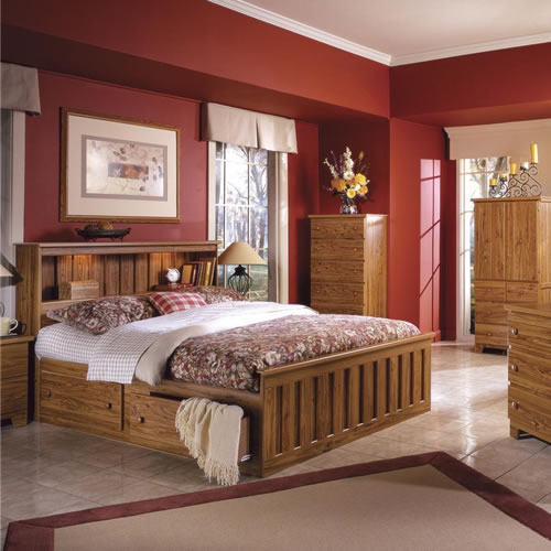 Shaker Hickory Bedroom Furniture