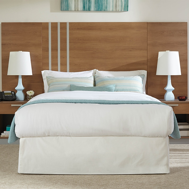 lang transitional hotel furniture Headboard Bed