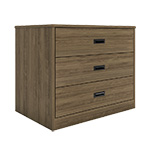 Badger Collection 3 Drawer Storage Walnut